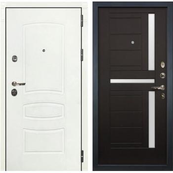 Входная металлическая дверь Лекс Сенатор 3К Шагрень белая (№35 Венге)