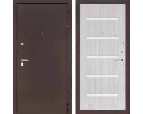 Входная дверь CLASSIC антик медный 01 Сандал белый