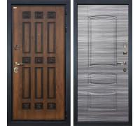 Входная металлическая дверь Лекс Гладиатор 3К Винорит Сандал серый (панель №69)