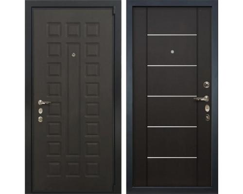 Входная металлическая дверь Лекс 4А Неаполь Mottura Венге Молдинг (панель №24)