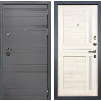 Входная металлическая дверь Лекс Сенатор 3К Софт графит Баджио (№47 Дуб беленый)