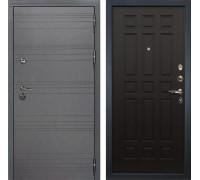 Входная металлическая дверь Лекс Сенатор 3К Софт графит (№29 Венге)