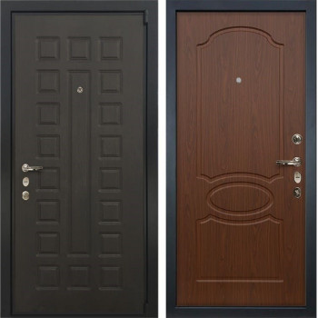 Входная металлическая дверь Лекс 4А Неаполь Mottura Берёза мореная (панель №12)