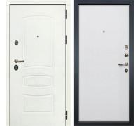 Входная дверь Лекс Сенатор 3К Шагрень белая (№62 Ясень белый)