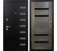 Входная металлическая дверь Лекс Витязь Неро Графит Шале (панель №65)