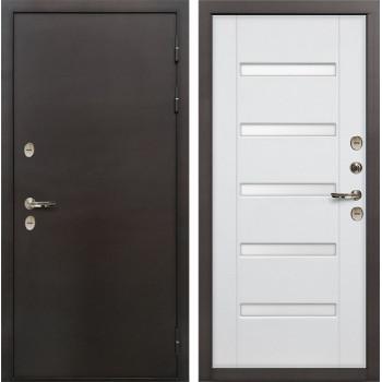 Входная металлическая дверь с терморазрывом Лекс Термо Сибирь 3К Ясень белый (панель №34)