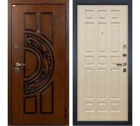 Входная металлическая дверь Лекс Спартак Cisa Белёный дуб (панель №28)