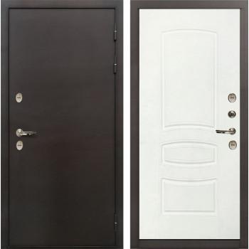 Входная металлическая дверь с терморазрывом Лекс Термо Сибирь 3К Белая шагрень (панель №68)