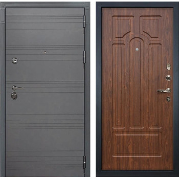Входная металлическая дверь Лекс Сенатор 3К Софт графит (№26 Береза мореная)