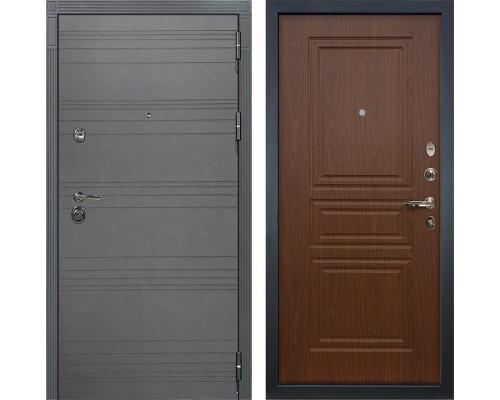 Входная металлическая дверь Лекс Сенатор 3К Софт графит (№19 Береза мореная)