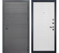 Входная дверь Лекс Сенатор 3К Софт графит (№36 Ясень белый)