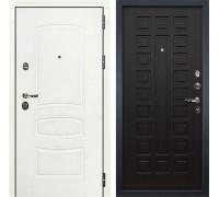 Входная металлическая дверь Лекс Сенатор 3К Шагрень белая (№21 Венге)