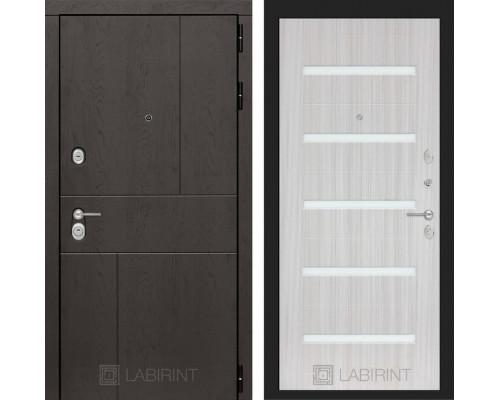 Входная дверь Labirint URBAN 01 - Сандал белый, стекло белое