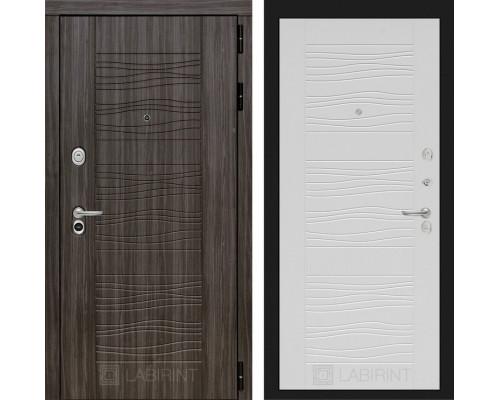 Входная дверь Labirint SCANDI Дарк грей 06 - Белое дерево