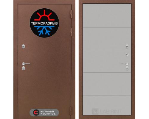 Входная дверь с терморазрывом Labirint Термо Магнит 13 Грей софт