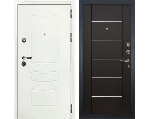 Входная металлическая дверь Лекс Сенатор 3К Шагрень белая (№24 Венге)