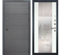Входная дверь Лекс Сенатор 3К Софт графит с Зеркалом Стиль (№61 Ясень белый)