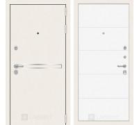Входная белая дверь в квартиру Labirint Лайн WHITE 13 Белый софт (белые двери для квартиры)