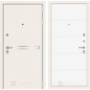 Входная дверь Лайн WHITE 13 Белый софт