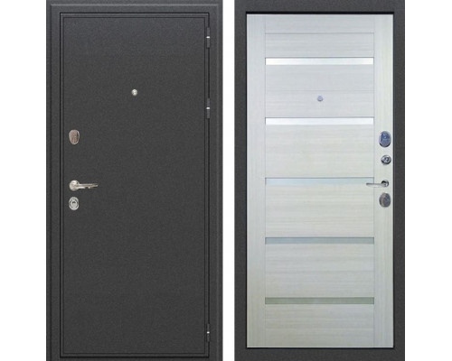 Входная металлическая дверь Лекс Колизей Клеопатра-2 Дуб беленый (панель №58)