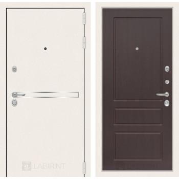 Входная дверь Labirint Лайн WHITE 03 Орех премиум