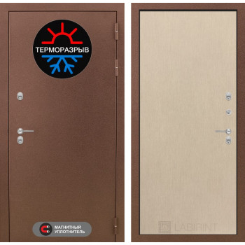 Входная дверь с терморазрывом Labirint Термо Магнит 05 Венге светлый (двери с терморазрывом)