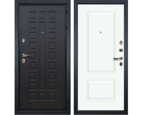 Входная металлическая дверь Лекс Гладиатор 3К Вероника-1 Эмаль Белая (панель №55)