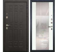 Входная металлическая дверь Лекс 8 Сенатор Стиль с Зеркалом Ясень белый (панель №61)