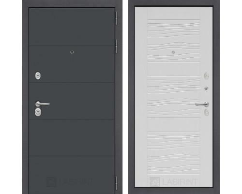 Входная дверь Labirint ART графит 06 - Белое дерево