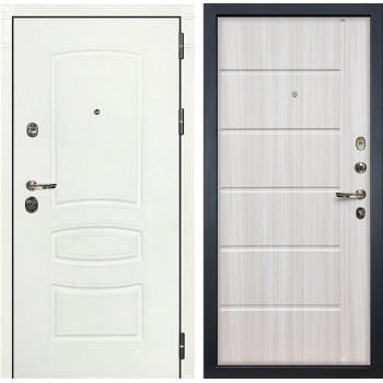 Входная дверь Лекс Сенатор 3К Шагрень белая (№42 Сандал белый)