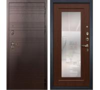 Входная металлическая дверь Лекс Легион с Зеркалом Берёза мореная (панель №30)