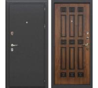 Входная металлическая дверь Лекс Колизей Голден патина черная (панель №33)