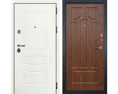 Входная металлическая дверь Лекс Сенатор 3К Шагрень белая (№26 Береза мореная)