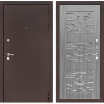 Входная дверь Labirint CLASSIC антик медный 06 - Сандал серый