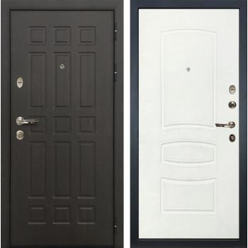 Входная металлическая дверь Лекс 8 Сенатор Белая шагрень (панель №68)