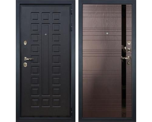 Входная металлическая дверь Лекс Гладиатор 3К Ясень шоколад (панель №31)