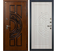 Входная металлическая дверь Лекс Спартак Cisa Сандал белый (панель №44)