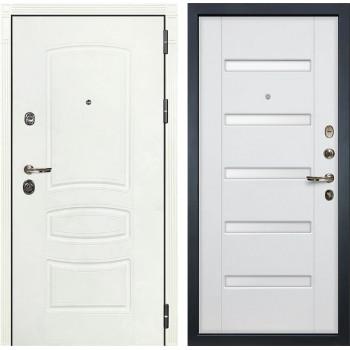 Входная дверь Лекс Сенатор 3К Шагрень белая (№34 Ясень белый)