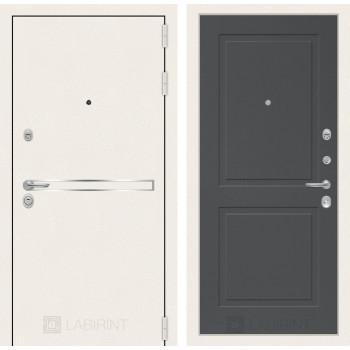 Входная дверь Labirint Лайн WHITE 11 Графит софт