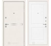 Входная белая дверь в квартиру Labirint Лайн WHITE 11 Белый софт (белые двери для квартиры)