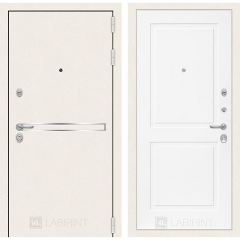 Входная белая дверь в квартиру Labirint Лайн WHITE 11 Белый матовый (белые двери для квартиры)