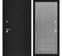 Входная дверь Labirint CLASSIC шагрень черная 06 - Сандал серый