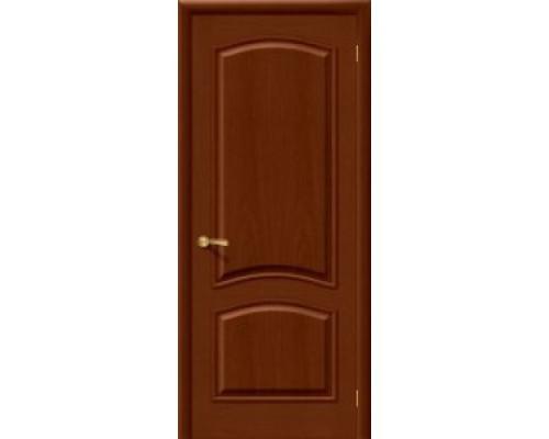Межкомнатная шпонированная дверь Капри 3 ПГ Темный Орех