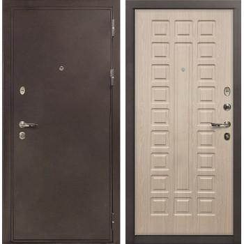 Входная металлическая дверь Лекс 5А Цезарь Дуб беленый (панель №20)