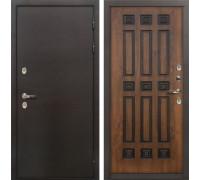Входная дверь с терморазрывом Лекс Термо Сибирь 3К Голден патина черная (панель №33)