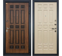 Входная металлическая дверь Лекс Гладиатор 3К Винорит Дуб белёный (панель №28)