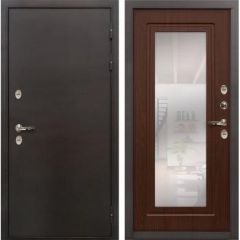 Входная дверь с терморазрывом Лекс Термо Сибирь 3К с Зеркалом Береза мореная (панель №30)