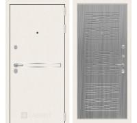 Входная дверь Labirint Лайн WHITE 06 Сандал серый