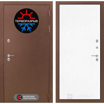 Входная дверь с терморазрывом Labirint Термо Магнит 07 Белое дерево