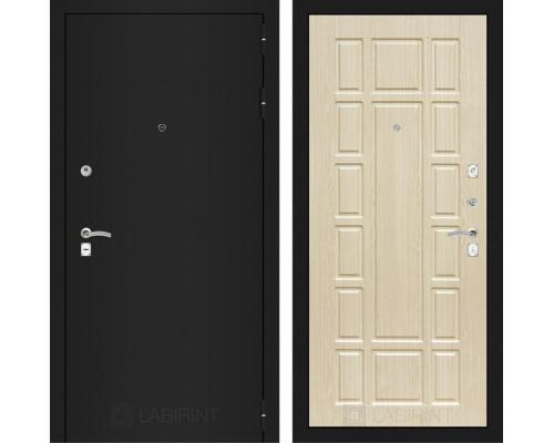 Входная дверь Labirint CLASSIC шагрень черная 12 - Беленый дуб